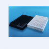 上海晶安J09601白色96孔板 四边白色底部全白96孔酶标板 化学发光专用96孔板 带盖不可拆卸